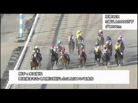 横山和生、競走馬の顔面にムチ!