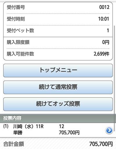 川崎記念、ホッコータルマエの単勝70万買った猛者が現わる!