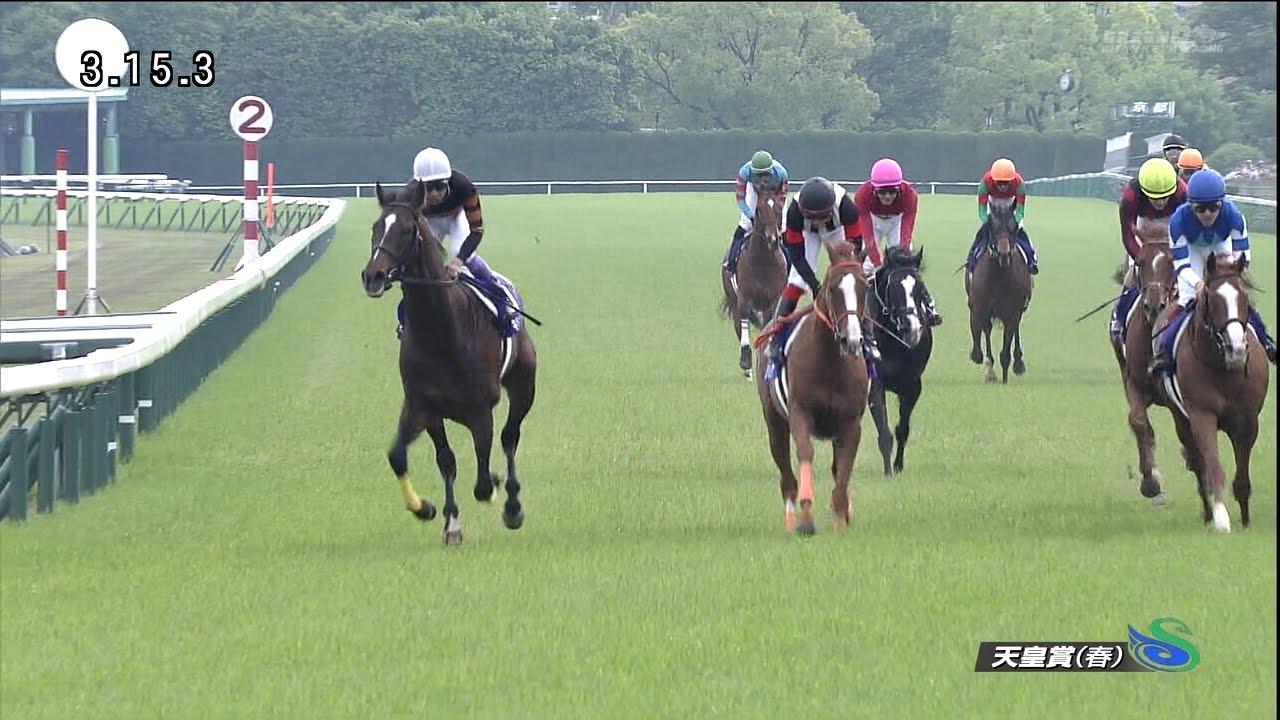 スタミナ自慢の馬で直線入るまで後方のインでじっとしてる福永とルメール