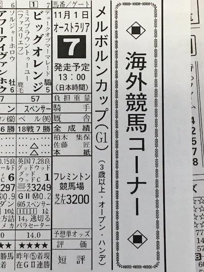 11/1(火) 13時 メルボルンカップ…馬券どうする?