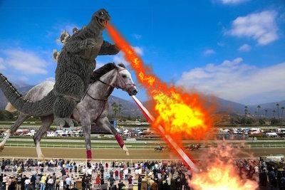 ラニ、他の馬を襲うので調教は特別メニュー