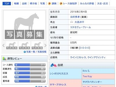 日本競馬史上トップクラスの珍名馬登場