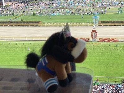 ルメールさん、サートゥルの惨敗をアーモンドアイのぬいぐるみと優雅に観戦wwwww