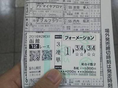 1レースで2千円を6万円にするにはどういう買い方する???