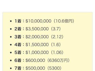 サウジカップの1着賞金11億円、5着でも1億円っておかしいだろ